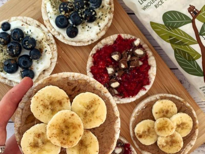 """Sweet Rice Cake Toppings"" by @thefitlondoner"