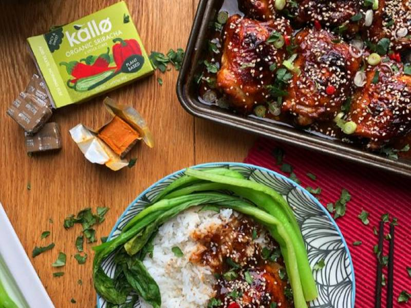 """Baked Sticky Sriracha Chicken"" by @squashedpickle"