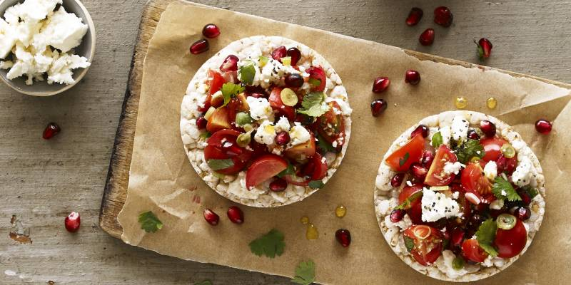 Tomato, pomegranate & feta makes everything better